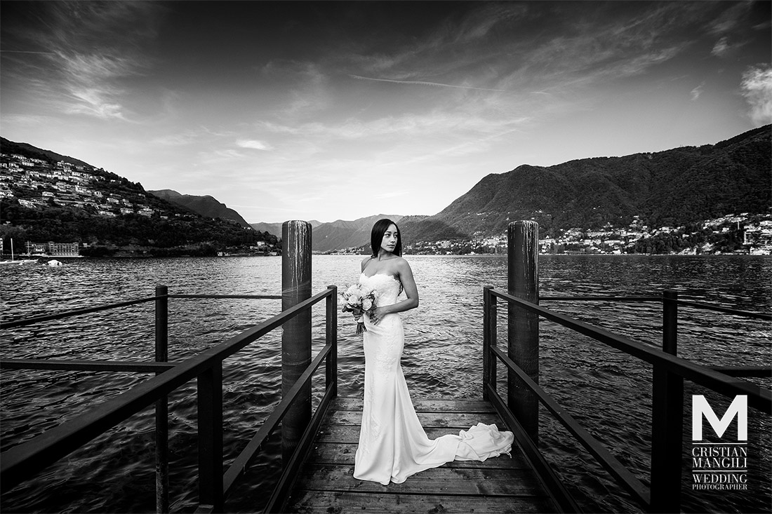 artistic-wedding-photographer-lake-como-italy-bride-staring-at-sunset